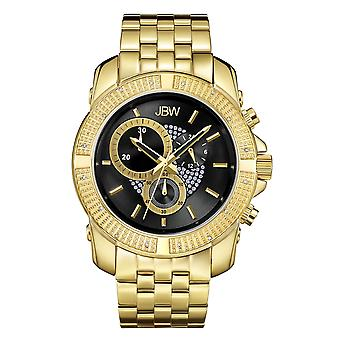 JBW diamond men's stainless steel watch WARREN - gold