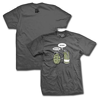 Ranger op du er højt T-Shirt-grå