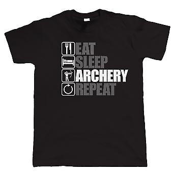 Vectorbomb, Eat Sleep Archery Repeat, Mens Funny Archery T Shirt (S to 5XL)