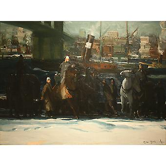 George Bellows - Snow Dumpers (1911) Poster Print Giclee