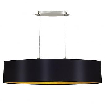 Eglo Maserlo 1000mm Long Island Light, Black And Gold Shade