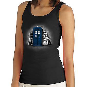 BankCy Doctor Who Tardis forfatterinne Street Art kvinners Vest