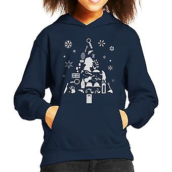 Christmas Tree Sherlock Holmes Kid's Hooded Sweatshirt
