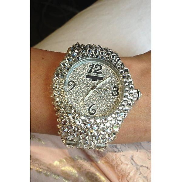 W.A.T Clear Swarovski Crystal Watch