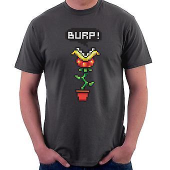 Burp Super Mario Piranha Plant Men's T-Shirt