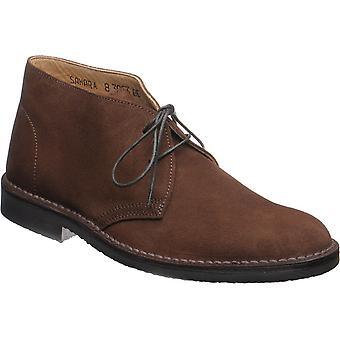 loake sahara desert boots brown suede with rubber sole