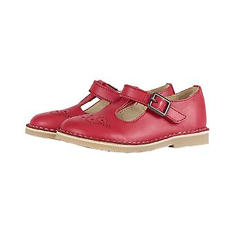 Young Soles Penny T Bar | Girls Traditional Red Leather Shoes
