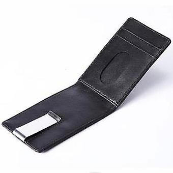 Black Leather Continental Wallet & Money Clip