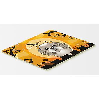 Halloween-Grau Silber Shih-Tzu-Küche oder Bad Mat 20 x 30