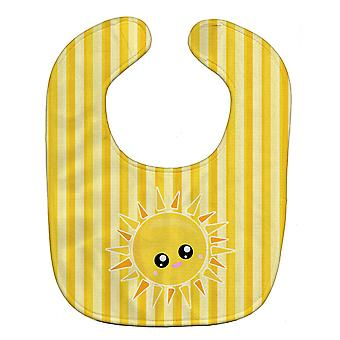 Carolines Treasures  BB7071BIB Sunshine Sun Face on Stripes Baby Bib