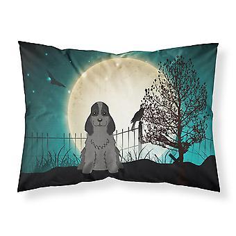 Halloween Scary Cocker Spaniel Black Fabric Standard Pillowcase