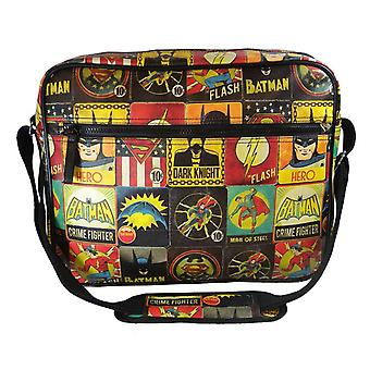 DC Vintage Comic Print Messenger Bag