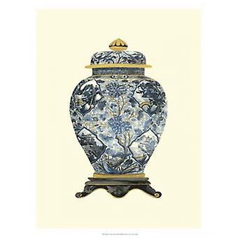 Blue Porcelain Vase II Poster Print by Vision studio (18 x 25)
