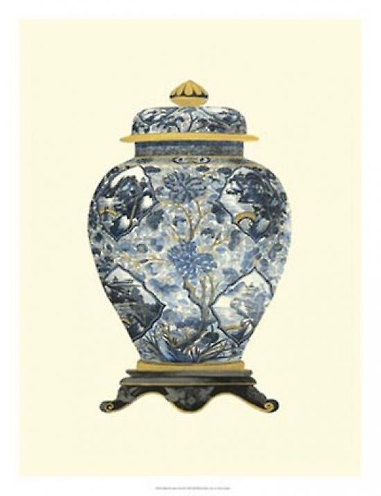 Bleu Porcelain Vase II Poster Print by Vision studio (18 x 25)