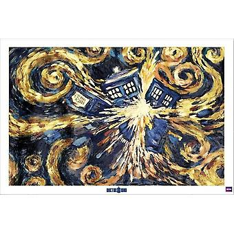 Doctor Who - Exploding Tardis Poster Poster Print