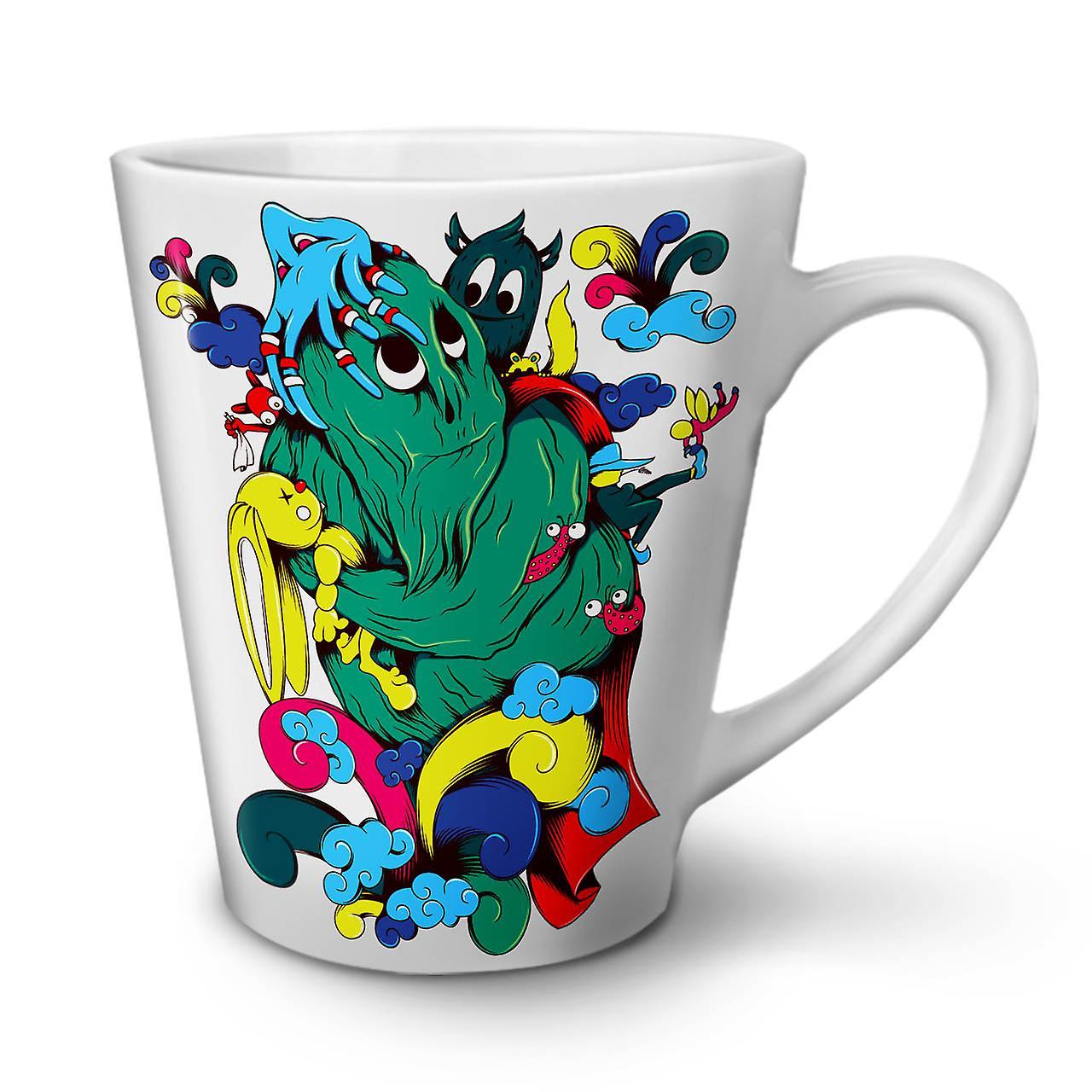 Fantaisie Cartoon Tasse Céramique OzWellcoda Café 12 Latte Nouvelle En Blanche Monster ZnPO80kXNw