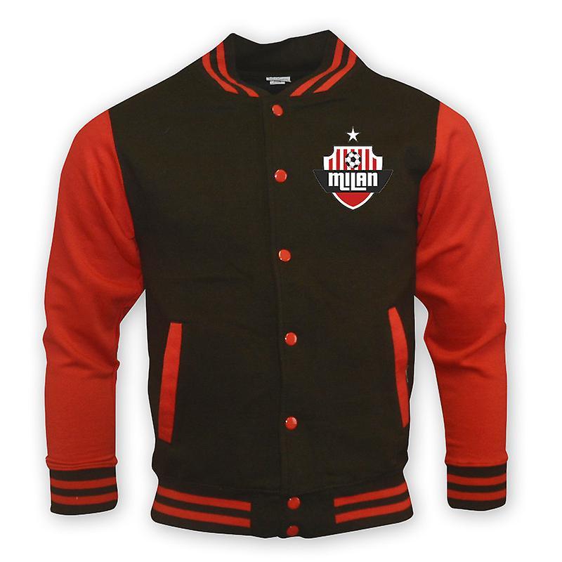 AC Milan College Baseball Jacket (noir)