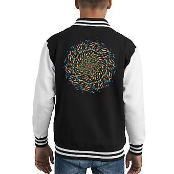Wheel Of Life 2 Kid's Varsity Jacket