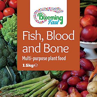 Blooming Fast Fish Blood & Bone Organic Fertiliser 1.5kg Resealable Tub