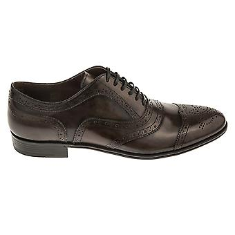 Dolce E Gabbana men's CA5755 black leather lace-up shoes