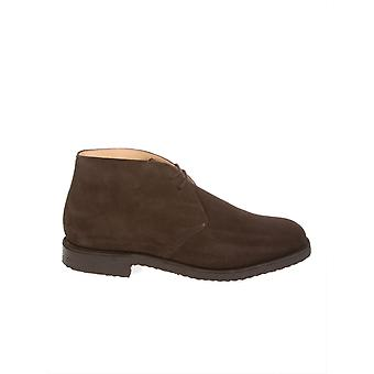 Church's men's RYDERCASTOROSUEDEBROWN Braun suede lace-up shoes