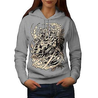 Dead Knight Bones Women GreyHoodie | Wellcoda