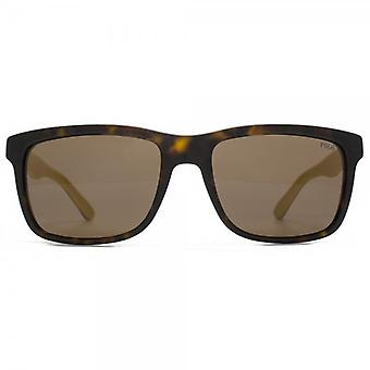 Polo Ralph Lauren Retro Style Sunglasses In Vintage Dark Havana