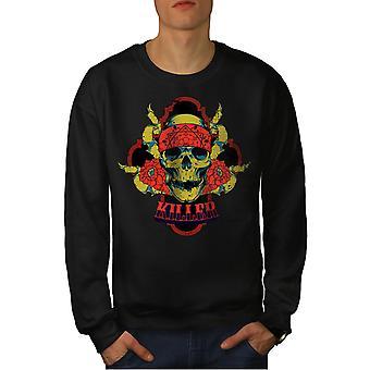 Killer Rose Death Men BlackSweatshirt | Wellcoda