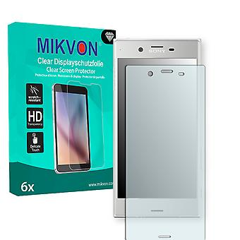 Sony Xperia XZ Screen Protector - Mikvon Clear (Retail Package with accessories) (intentionally smaller than the display due to its curved surface)