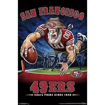 San Francisco 49ers - End Zone Poster Print