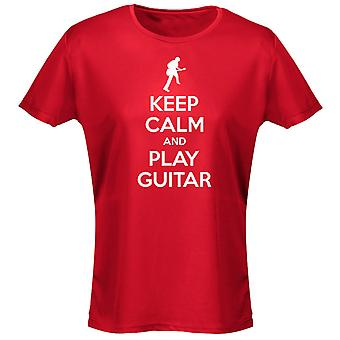 Keep Calm And Play Guitar Womens T-Shirt 8 Colours (8-20) by swagwear