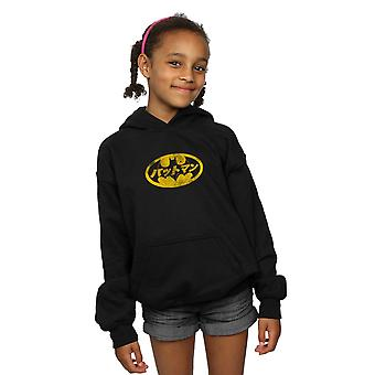 DC Comics Girls Batman Japanese Logo Yellow Hoodie