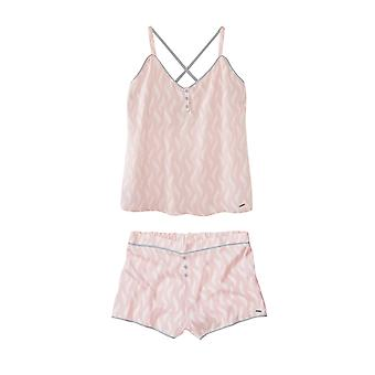 Feather Print Short Pyjama Set Pink
