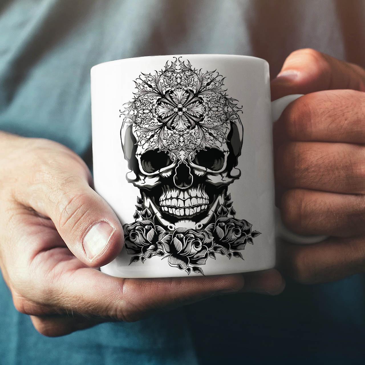 Evil Satan Head Skull NEW White Tea Coffee Ceramic Mug 11 oz   Wellcoda