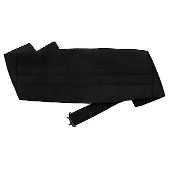 Black Plain Satin Cummerbund for Boys (2-7 Years)