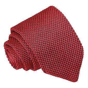 Burgundy Knitted Slim Tie