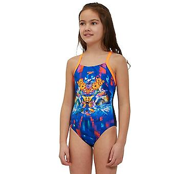 Speedo Dreamscape Digital Cross zurück Junior Badeanzug