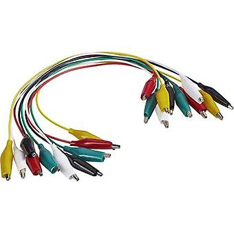 Test lead kit [Terminals - Terminals] 0.28 m Black, Red, Yellow, Green, White VOLTCRAFT KS-280/0.1