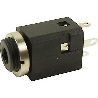 Cliff FC681374V 3.5 mm audio jack Socket, vertical vertical Number of pins: 3 Stereo Black 1 pc(s)