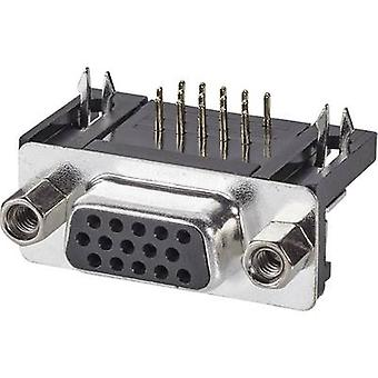 ASSMANN WSW A-HDF 15 A-KG/T D-SUB receptacles 90 ° Number of pins: 15 Soldering 1 pc(s)