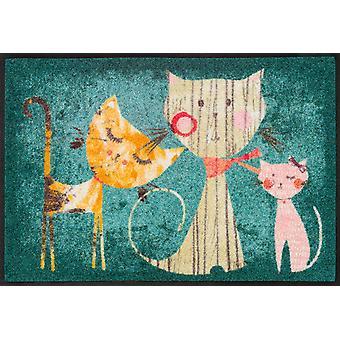 wash + dry mat Klara, Lisa & Marie 50 x 75 cm washable dirt mat cat welcome