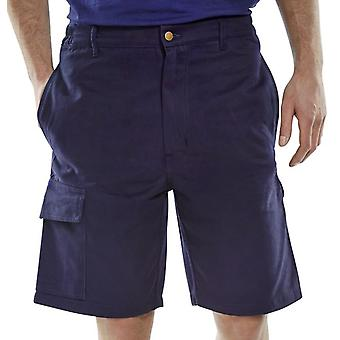 Click Workwear Cargo Pocket Shorts Navy - Clcpsn