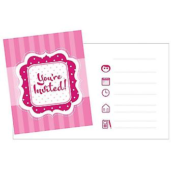 Creative Party Perfectly Pink Invitations Cards (Pack Of 8)