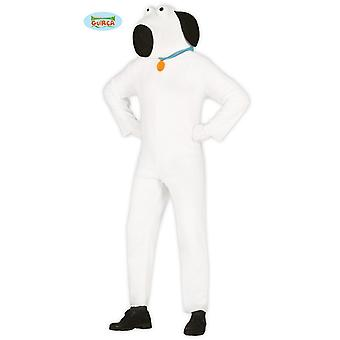 White dog Carnival Carnival animal theme party costume for adult white