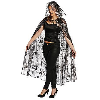 Tulle spider Cape ladies costume Halloween Cape