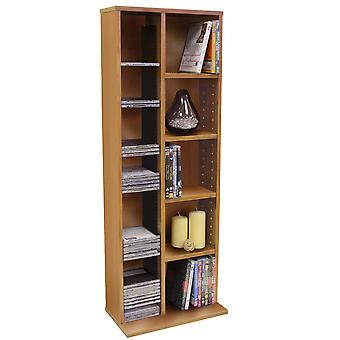 Claremont - 219 Cd / 56 Dvd Blu-ray Video Multimedia Storage Unit - Beech