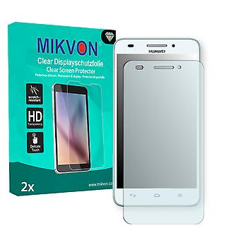 Huawei Ascend G620S Screen Protector - Mikvon Clear (Retail Package with accessories)