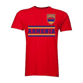 Armenien Kern Fußball Land T-Shirt (rot)