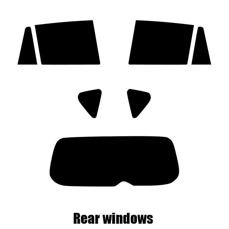 Pre cut window tint - Toyota RAV4 5-door - 2006 to 2012 - Rear windows