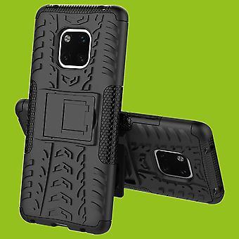 Für Huawei Mate 20 Hybrid Case 2teilig Outdoor Schwarz Tasche Hülle Cover Schutz